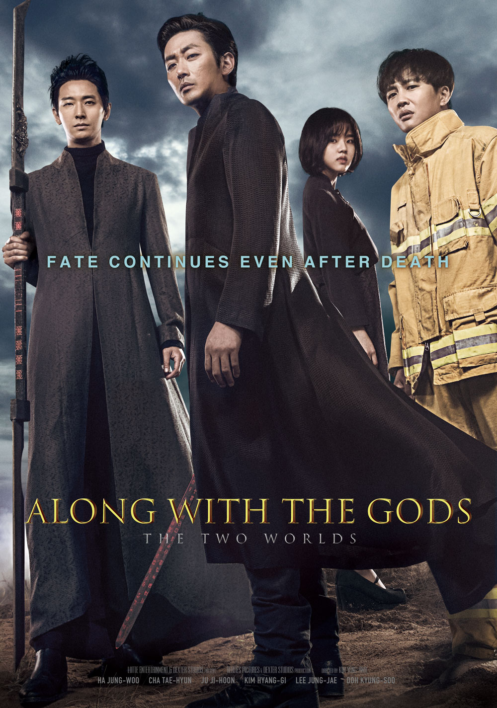 ALONG WITH THE GODS : THE TWO WORLDS poster